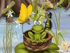 A Collection of 25 animated cartoon and painted Funny Frog images 10.50 MB