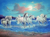 A Collection of 50 Beautiful Horse Pictures in scenic painted backgrounds By various artist 20.00 MB